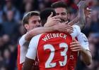 ''Arsenal'' izmoka minimālu uzvaru pār ''Norwich''