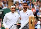 Federers Vimbldonas finālā tiksies ar draudīgo Čiliču