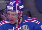 """Video: KHL nedēļas """"hitu"""" topā triumfē SKA aizsargs"""