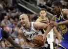 """""""Spurs"""" izcīna pirmo uzvaru sērijā pret """"Warriors"""" un izvairās no izstāšanās"""