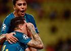 """""""Atletico"""" uzvar Monako, Dortmundei uzvara Brigē ar veiksmes palīdzību"""
