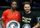 Monfīss Roterdamas finālā uzvar Vavrinku, Opelka Ņujorkā svin pirmo titulu