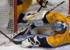 Video: NHL atvairījumu topā triumfē Rinne