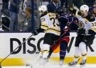 """""""Bruins"""" aizsargam Makavojam piespriež diskvalifikāciju"""