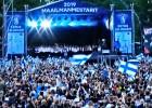 Video: Līdzjutēju pūlis Helsinkos sumina pasaules čempionus