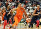 """""""Sun"""" pirmajā ceturtdaļā <i>izsit korķus</i> un panāk piekto spēli WNBA finālā"""