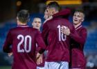 U21 futbolisti neizmanto pirmā puslaika pārsvaru un zaudē Pērnavā