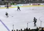 Video: Skrastiņam četri bloķēti metieni un uzvara pār ''Penguins''