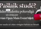 Studentu Pokera Līgas noslēgusies. Uzvarētājs dodas uz LO2011