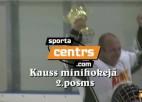 Video: Sportacentrs.com minihokeja 2. posmā uzvar Karāts un Bauska