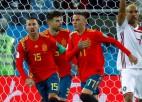 Spānija izglābjas pret Maroku un astotdaļfinālā tiksies ar Krieviju