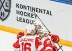 """Video: """"Spartak"""" latvieši rezultatīvi, Daugaviņš iemet uzvaras ripu Čerepovecā"""