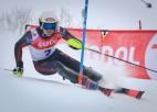 Kalnu slēpotājam Mikam Zvejniekam pirmie punkti Eiropas kausa karjerā