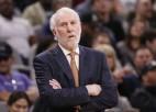 """""""Spurs"""" treneris Popovičs NBA <i>burbuli</i> nosauc par drošāko vietu, kur atrasties"""