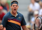"Del Potro pirmoreiz ""French Open"" uzvar piecu setu mačā"