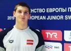 Peldētājs Markovs labo Latvijas rekordu 800 metru distancē