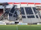 Pamatīgi iebrūk Nīderlandes kluba AZ stadions