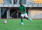 """""""Metta"""" futbolists Seriba palīdz DĀR izlasei sasniegt izšķirošo kārtu olimpiskajā atlasē"""