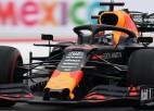 """Verstapens pārspēj """"Ferrari"""" pilotus Meksikas posma kvalifikācijā"""