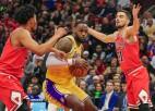 "Lebronam trešais <i>triple-double</i> pēc kārtas, ""Lakers"" izcīna sesto uzvaru"