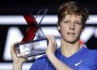 """18 gadus vecais Sinners kļūst par jaunāko """"ATP Next Gen"""" čempionu"""