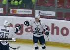 """Video: HK """"Rīga"""" ielaiž vārtus vairākumā un piekāpjas Sanktpēterburgas """"Dynamo"""""""
