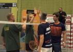 """Video: Ceresit vīriešu komandu kausa badmintonā bronzas finālā """"Fisher"""" uzvar LLU"""