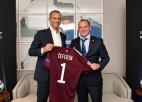 Ļašenko pirms Superkausa tiekas ar UEFA prezidentu, kurš gandarīts par stabilitāti Latvijas futbolā