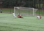 """Video: Divas sarkanās kartītes spēlē, kurā """"Dinamo"""" uzvar """"Smilteni"""""""