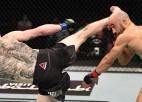 """UFC """"Cīņu salā"""" izcili nokauti, galvenajā cīņā triumfē Sendheigens"""