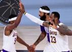 """""""Lakers"""" pēc desmit gadiem atkal NBA čempione, Lebronam ceturtais tituls"""