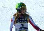Līnsbergeres zelts slalomā nodrošina Austrijas priekšlaicīgu uzvaru medaļu ieskaitē