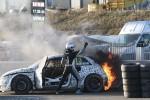 Foto: Bakerudam testos aizdegas ''Audi S1 EKS RX quattro''