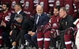 Foto: Latvijas hokeja izlase pirms cīņas ar krieviem piedalās foto sesijā