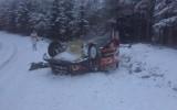 Foto: Mīkem gatavošanās Zviedrijas WRC rallijam beidzas ar avāriju