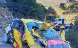 Foto: Beļģu ekipāžai Korsikas WRC rallijs beidzas vēl nesācies