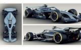 """Foto: """"Formula 1"""" prezentē vīziju par 2021. gada sacīkšu mašīnām"""