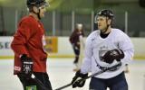 Foto: Hokeja izlases pirmais treniņš