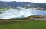 Video: Azoru salās rallija ātrumposms ved pa vulkāna virsotni