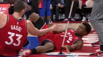 NBA jocīgākajos momentos arī Durents un Laurijs