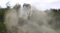 Seska konkurents piedzīvo sezonas iespaidīgāko avāriju junioru WRC rallijā