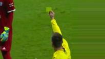 Vārtsargs lūr VAR monitorā un saņem dzelteno kartīti