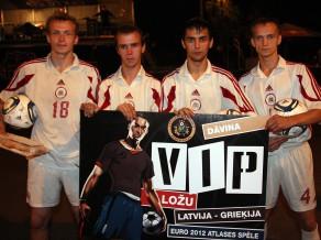 """Latvijas Futbola federācijas īpašā balva """"Ghetto Football"""" čempioniem"""