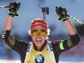 Dālmeierai un Vācijai kārtējais zelts, Ukraina sieviešu stafetē izrauj sudrabu