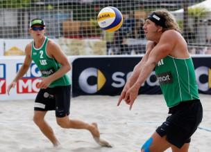 Eiropas spēļu pludmales volejbola turnīrā Latvija iegūst divas vietas