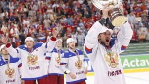 Video: Krievija finālā apspēlē somus un triumfē Minskā