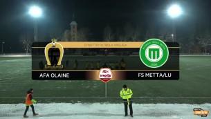 """Video: """"Olaine"""" izrauj neizšķirtu pirmajā Virslīgas pārspēļu mačā pret """"Mettu"""""""