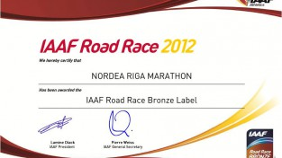 """""""Nordea Rīgas maratons"""" saņem prestižo IAAF kvalitātes zīmi"""