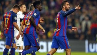 ''Barcelona'' grauj, Turanam ''hat-trick'', skoti atņem punktus ''City''