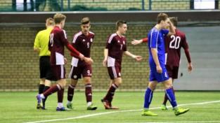 """Latvijas U19 izlase un """"Skonto"""" iesit sešus vārtus un spēlē neizšķirti"""